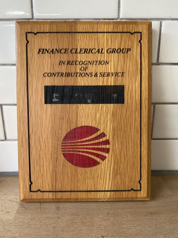 Continental Airlines Wooden Finance Award