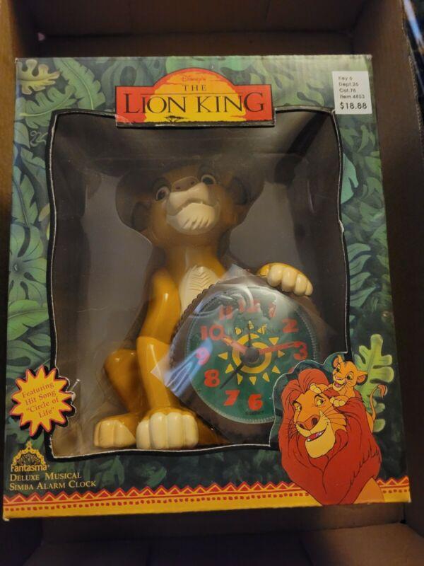 "THE LION KING DELUXE MUSICAL SIMBA ALARM CLOCK FANTASMA NIB ""CIRCLE OF LIFE"""