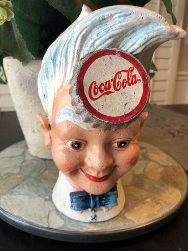 Limited Edition Vintage Cast Iron Coca Cola Sprite Boy Advertising Coin Bank Toy