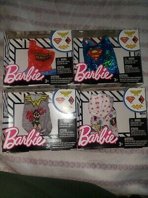 Lot Of 4 Barbie Animated Girl Superhero Clothes