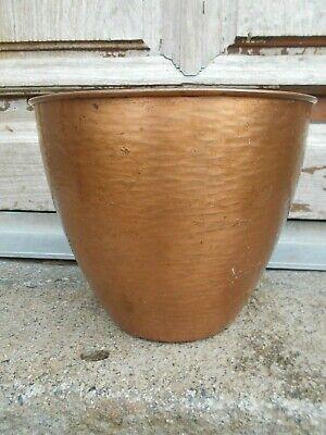 Vintage French copper plant pot/ jardiniere/planter/cache pot 21 cm tall 80s