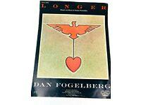 """DAN FOGELBERG /""""LONGER/"""" PIANO//VOCAL//GUITAR SHEET MUSIC 1979 RARE OUT OF PRINT NEW"""
