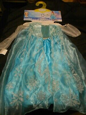 Disguise Deluxe Frozen Elsa Costume Dress & Headband NEW Size 4-6x