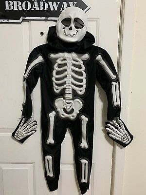 Skelebones Skeleton Costume Toddler Size Large 4-6 Halloween Dress Up - Skeleton Costume Toddler