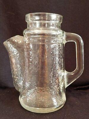 Vintage WMF crystal waved glass jug