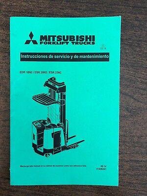 Spanish Mitsubishi Forklift Trucks Operation Maintenance Manual Edr Esr