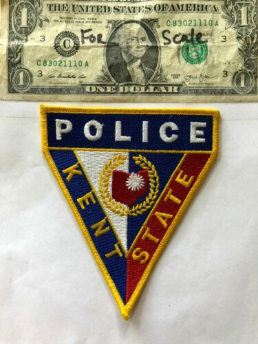 Kent State Ohio Police Patch  un-sewn in mint shape