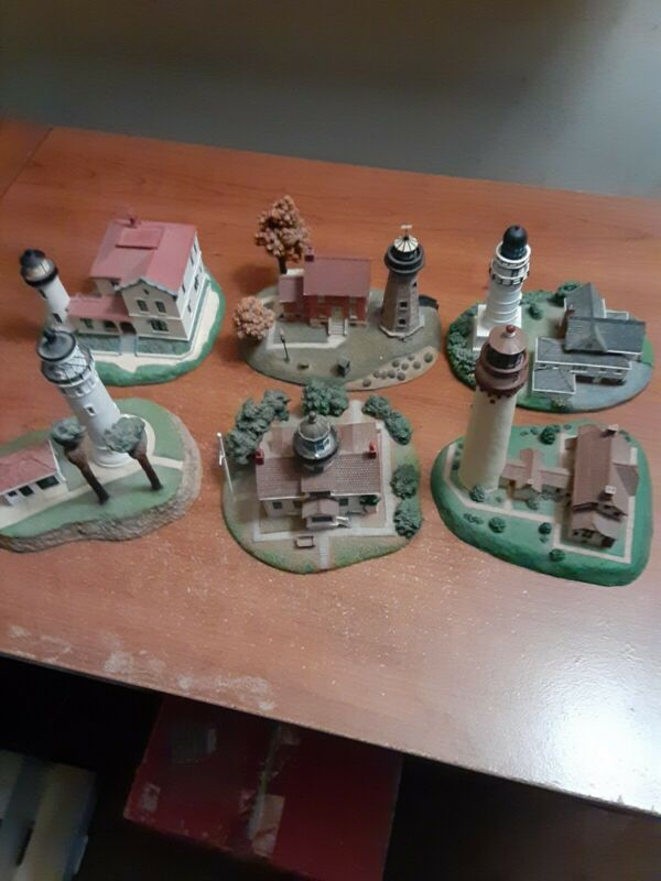 Lighthouses By Danbury Mint 6 Count Lot
