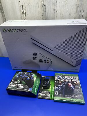 Xbox one s 1 tb white console,4k bluray-hdr bundle marvel advengers