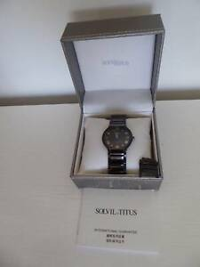 WATCH, TITUS, MENS/LADIES, BLACK STAINLESS, SAPPHIRE GLASS, A1