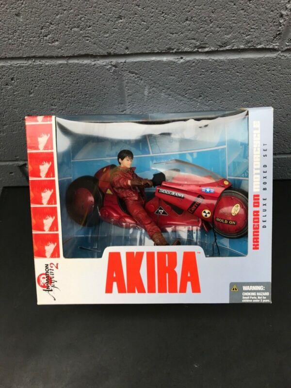 McFarlane AKIRA KANEDA on Motorcycle Ultra Action Figure Deluxe Boxed Set ~ new
