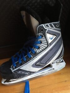 Two pairs of Bauer hockey skates (size 4D and 5E)