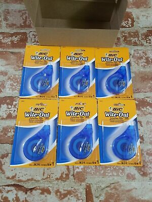 Lot Of 6 Bic Wite Out Ez Correct Tape New Sealed Resale Lot White Correction