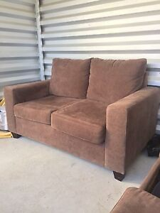Two piece sofa set with pull out bed