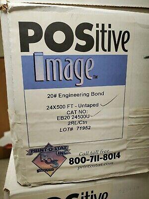 Engineering Bond Plotter Paper 24 X 500 Ft. 20 Lb. White 3 Core 2 Rlctn