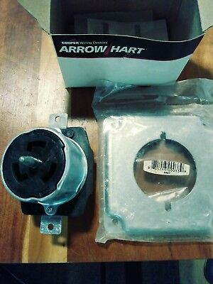Arrowhart Cs8369 50a 250v 3 Twist-lock Receptacle Non-nema W Free Cover