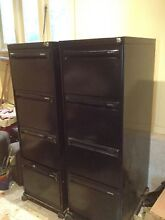 Four drawer black Namco filing cabinet - two identical Waitara Hornsby Area Preview