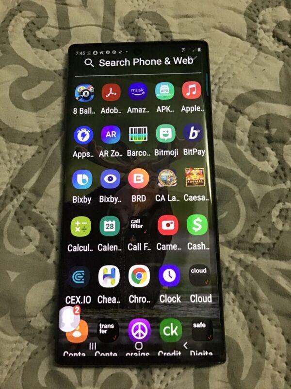 ✔BLACK✔ Samsung GALAXY Note10+ plus 512GB ✔5G✔ VERIZON Unlocked Note 10 + GSM