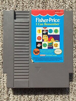 Fisher-Price: I Can Remember (Nintendo 1990) NES Tested Works Well