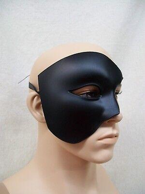 Black Phantom of Opera Half Face Costume Mask Beast Masquerade Ball Venetian Lad
