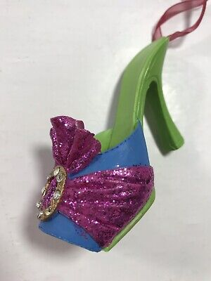 Christmas Ornament High Heel Pump Fashion Bling Holiday Decoration Display Tree