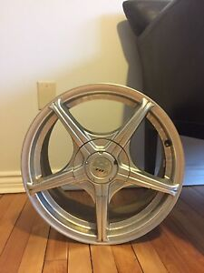 Four fox rims and tires