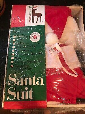 Best Santa Costume (Rennoc Santa's Best Christmas Suit Costume One Size Vintage In)