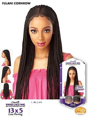 Corn Row Wig (Sensationnel 13x5 Fulani Corn Row Frontal Lace Wig (Free-Part))