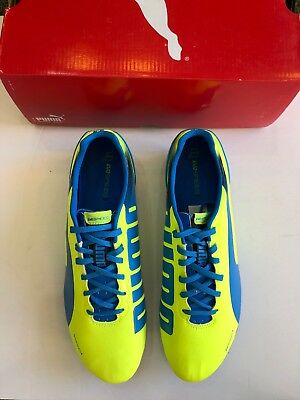 bf1bef82e Puma evoSPEED 2.2 FG Soccer Cleats - Yellow-Brilliant Blue - Mens Size US  12.5