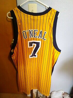 New INDIANA PACERS NBA JERMAINE O'NEAL #7  Reebok Jersey  4XL +2 Swingman Reebok