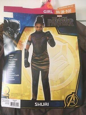 Marvel Girls Cosplay (Marvel Comics Black Panther Shuri Girls Costume Cosplay Size Medium)