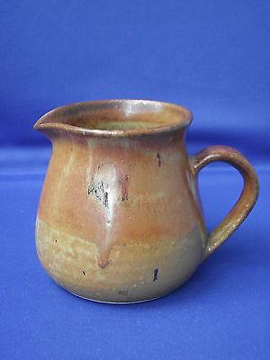 Lemba Pottery Studio Art Rustic Orange Brown Two Tone Pottery Jug