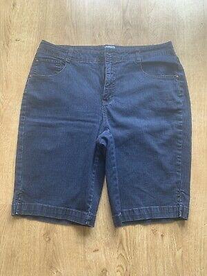 Just My Size Blue Denim Shorts With Stretch - Size 16
