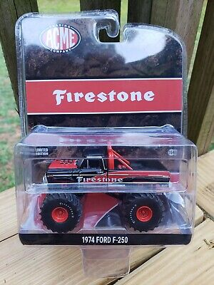 CHASE Greenlight ACME Firestone 1974 Ford F250 Monster Truck 51272 Green Machine