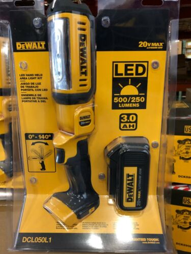 DeWALT DCL050L1 20V MAX* LED HAND HELD AREA LIGHT With DCB200 3ah. Battery