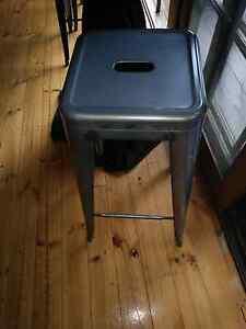 8 x gun metal grey 76cm high tolix replica stools Crafers Adelaide Hills Preview