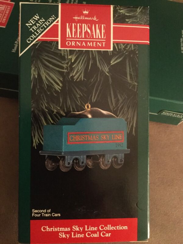 HALLMARK ORNAMENT -SKY LINE COAL CAR NIB