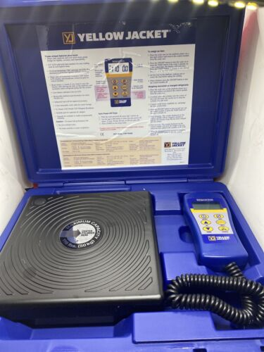 YELLOW JACKET Refrigerant Scale,Electronic,110 Lb, 68802 USED WORKS GREAT  - $55.50