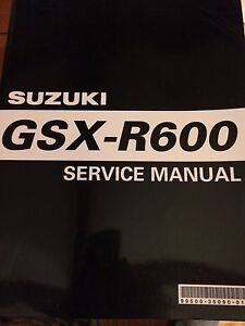 2004 Suzuki GSXR600 Service Manual