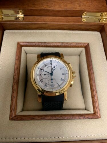 Breguet Marine Chronograph 42mm 18K Yellow Gold 5827 BB -Box/Papers - Great!