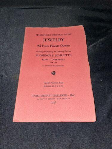 Jewelry 1946 Parke-Bernet Antique Art Auction Catalog ~ Florence S. Schuette