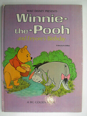 Walt Disney Presents Winnie The Pooh, Eeyore's Birthday, Big Golden Book, 1965