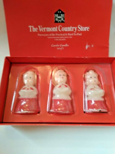 """Vermont Country Store Gurley Reproduction 3"""" Mini Caroler Candles Christmas NIB"""
