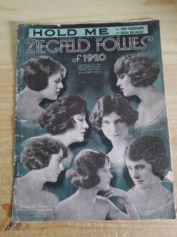Hold me 1920 sheet music city Ziegfeld Follies of 1920.Rougher shape.Check photo