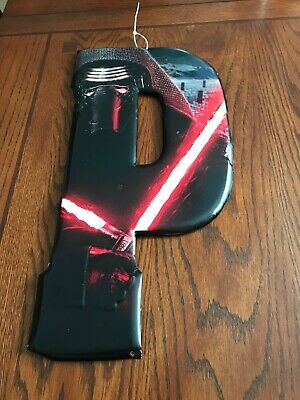 "Star Wars Darth Vader Letter ""P"" Red Black Light Saber Metal Sign Room Decor](Blacklight Room Decor)"