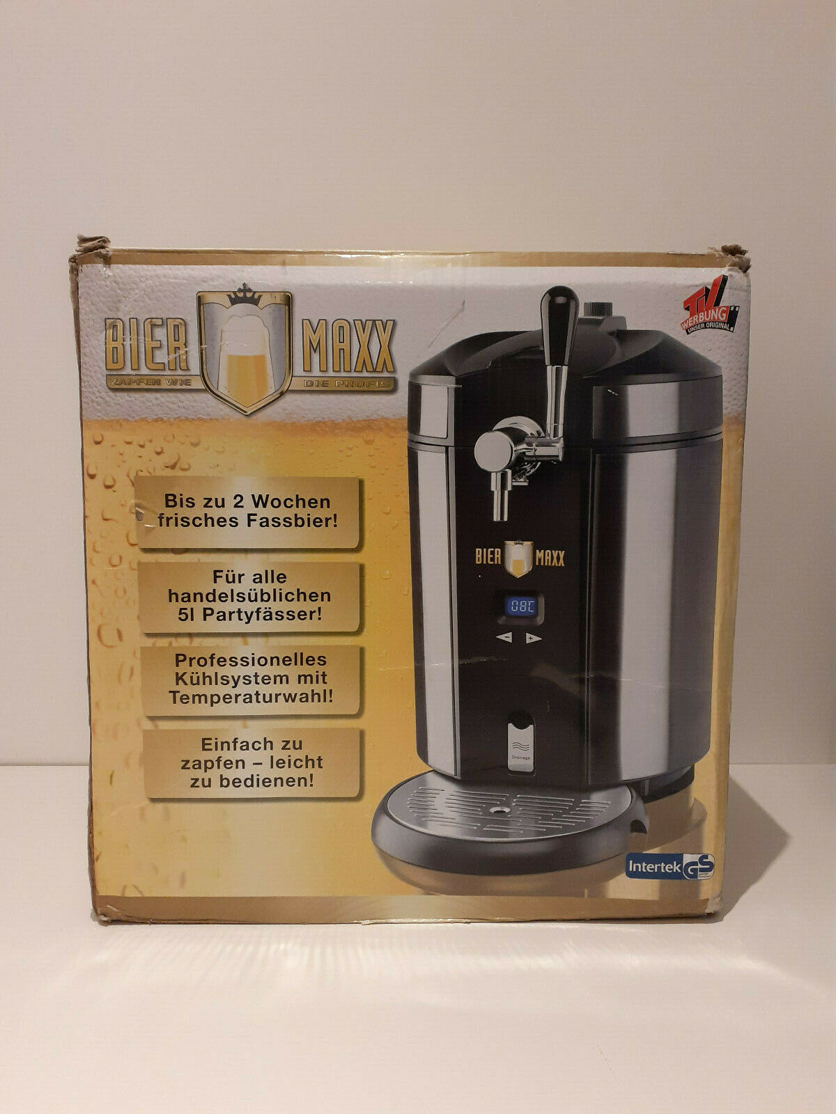Bier-Zapfanlage für 5 Liter Fässer mit Kühlung inkl 3 CO2 Kapseln Bier-Fass NEU
