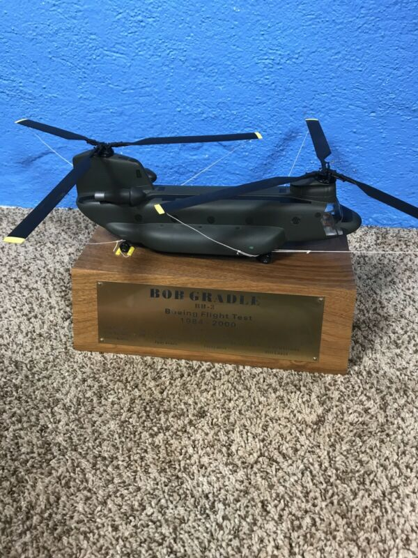 "Boeing Vertol CH-47D ""Chinook"" Helicopter Test Pilot Model Trophy"