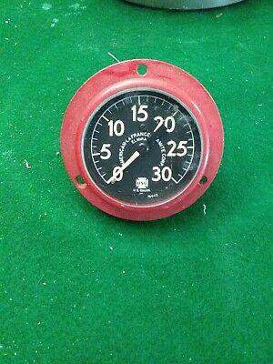 U.s Gauge 0-30 Pressure Gauge Red Body . Steampunk