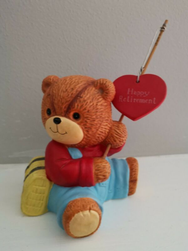 Vintage 1987 Lucy and Me Fishing BEAR  ~ Enesco