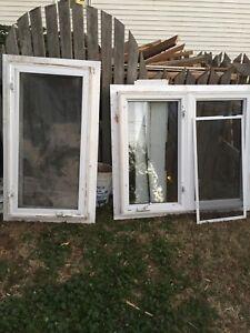 Used vinyl windows
